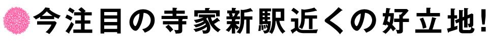 今注目の寺家新駅近くの好立地!