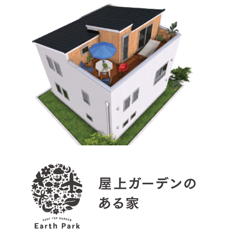 BinO Earth Park|屋上ガーデンのある家