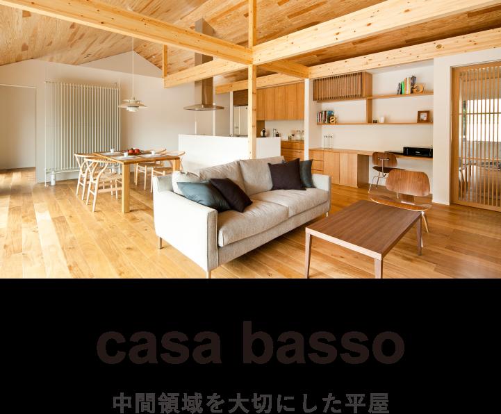 casa basso|カーサバッソ|中間領域を大切にした平屋