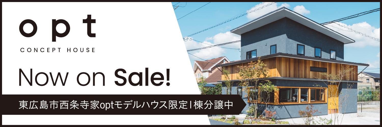 東広島市西条寺家optモデルハウス限定1棟分譲中