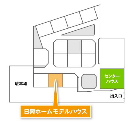 ちゅーピー住宅展示場マップ