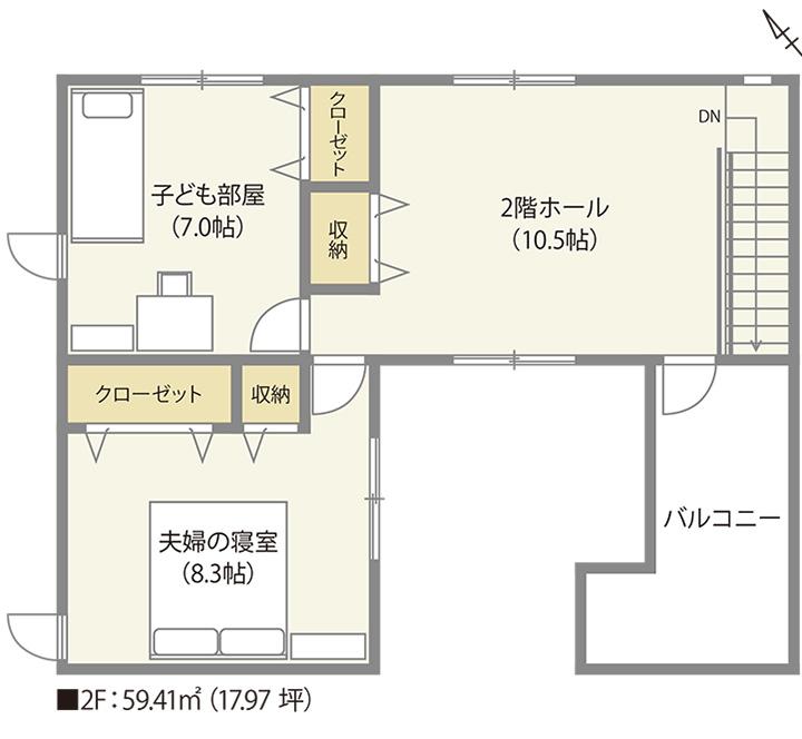 広島 ハウスメーカーのフリーウォール設置例02
