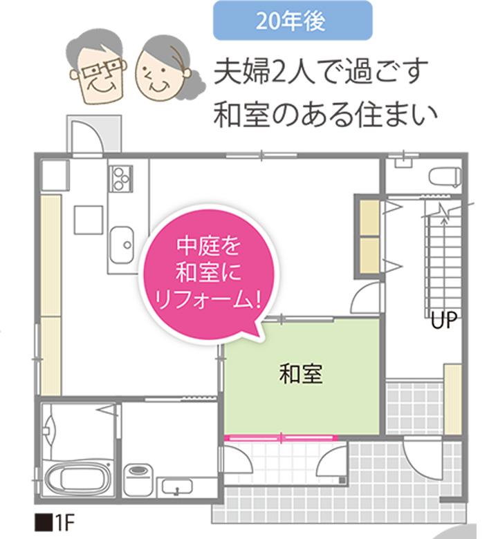 広島注文住宅会社のフリーウォール設置例05